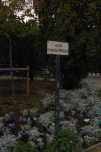 Les Champs Elysées : allée Marcel Proust
