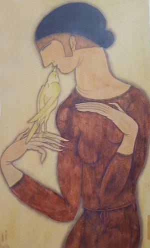 Foujita Le baiser de l'oiseau 1917