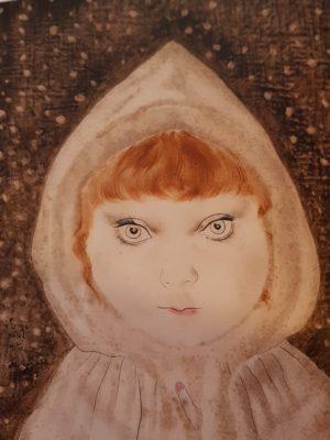 Foujita 1929, Petite fille au capuchon