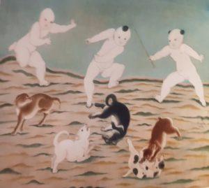Foujita Enfants jouant 1924