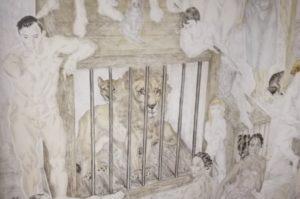 Foujita Composition au Lion 1928