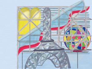 Paris Pompidou Beaubourg Tour Eiffel